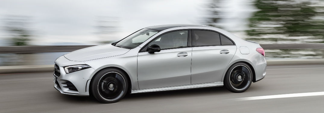 2019 A-Class in Silver - Side View