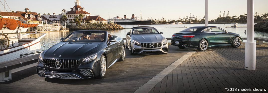 Mercedes-Benz S-Class models near water