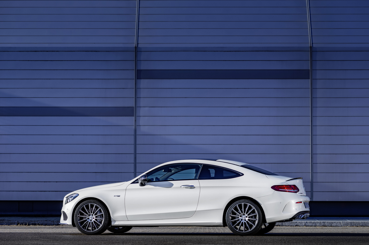 The 2017 C43 Coupe Side View - Mercedes-Benz of Scottsdale