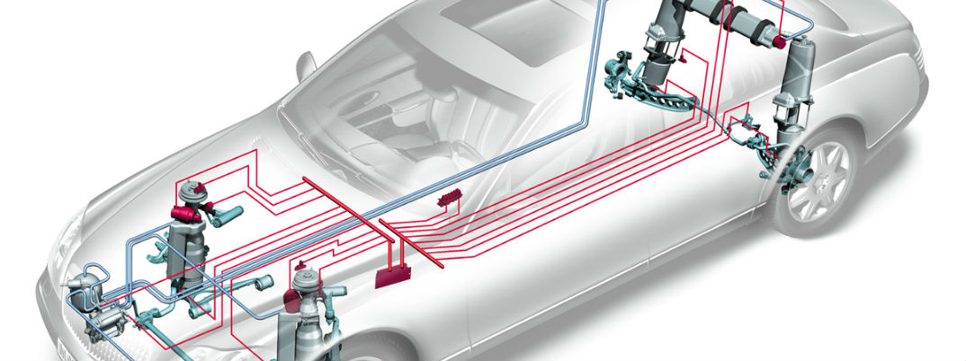 What is the difference between AIRMATIC AMG RIDE CONTROL and DYNAMIC SELECT?