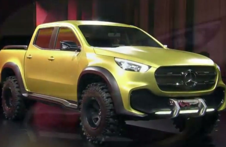 2018 Yellow Mercedes Benz X Class Pickup Truck Powerful Adventurer