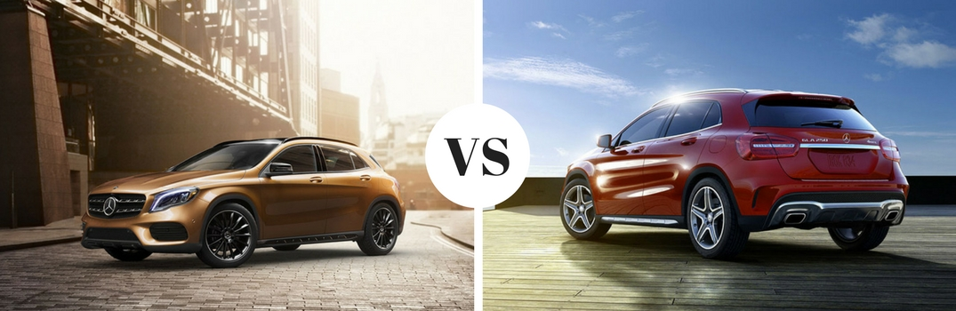 What's the difference between the 2018 GLA and 2017 GLA?