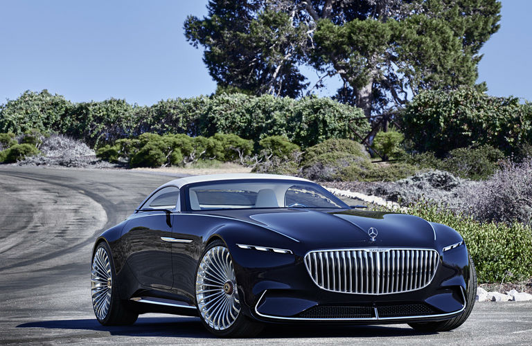 Vision Mercedes-Maybach 6 Cabriolet front grille in blue