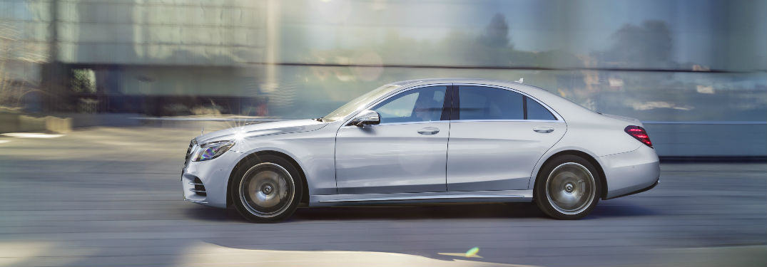 2018 S-Class Sedan in Silver Side View