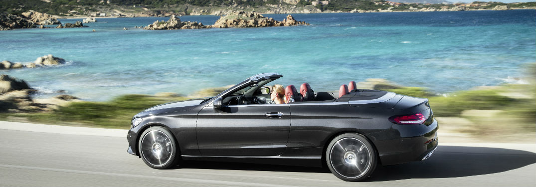 2019 C-Class Cabriolet in Black with the top down