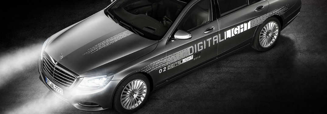 Digital Light project car with headlamps on