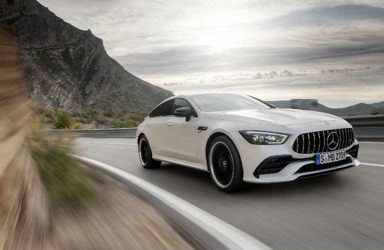2018 amg gt 4 door coupe white grille o mercedes benz of scottsdale