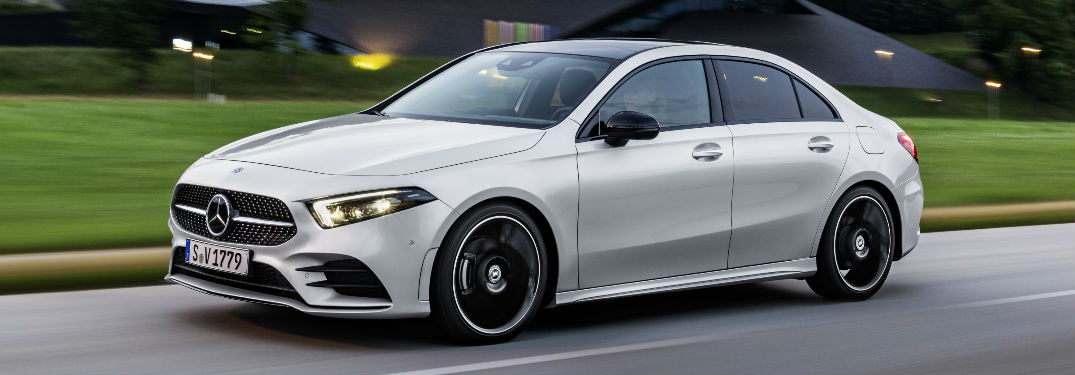 2019 A-Class Sedan in Silver - Side View