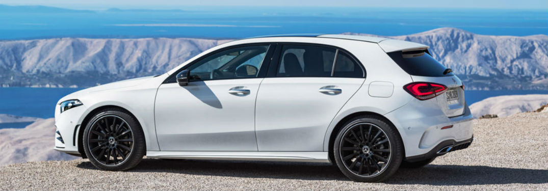 2019 MB A-Class exterior back fascia and drivers side profile