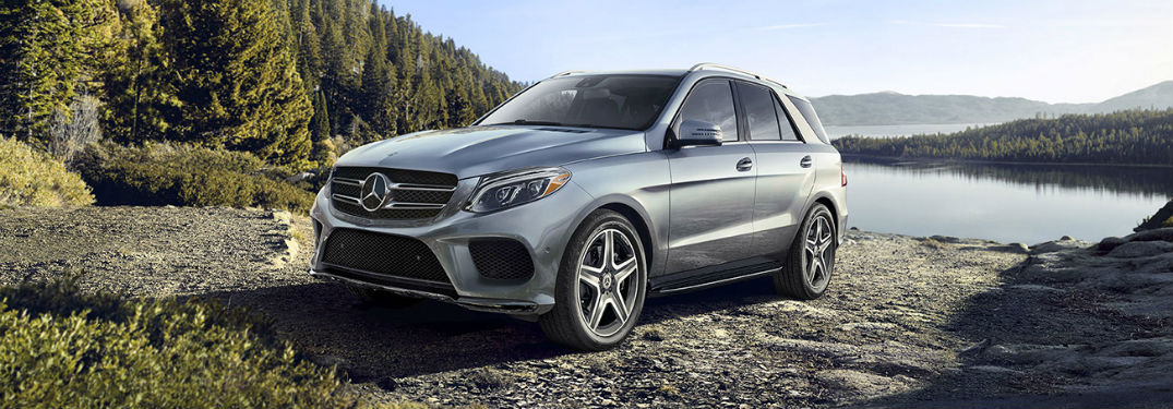 2019 MB GLE exterior front fascia and drivers side with lake in background