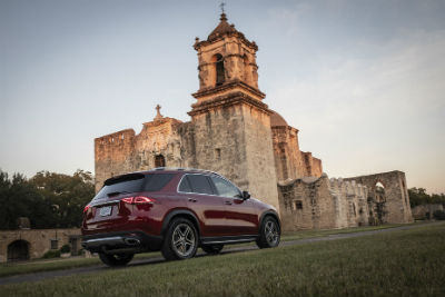 2020 MB GLE exterior back fascia and passenger side by castle