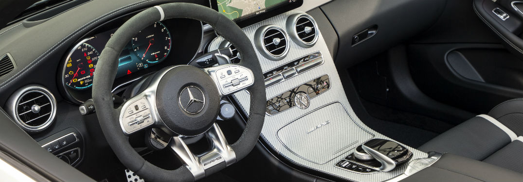 2019 MB C-Class interior steering wheel and partial dashboard
