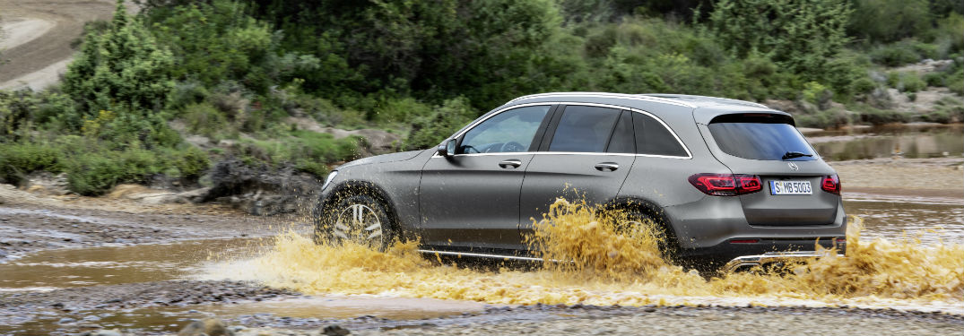 2020 MB GLC exterior back fascia and drivers side going through river