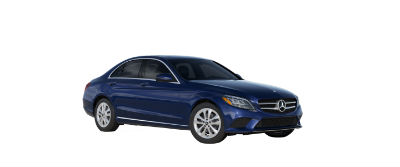 2019 MB C-Class front fascia and drivers side Brilliant Blue Metallic