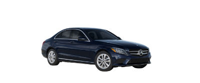 2019 MB C-Class front fascia and drive side Lunar Blue Metallic