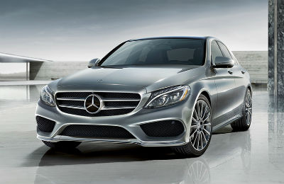 2019 MB C-Class exterior front fascia and driver side on tiled lot