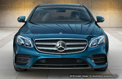 2019 MB E-Class exterior front fascia parked indoors in empty tiled room