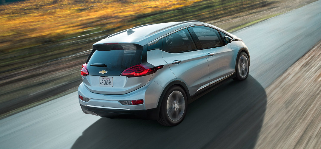 2017 Chevy Bolt side veiw driving