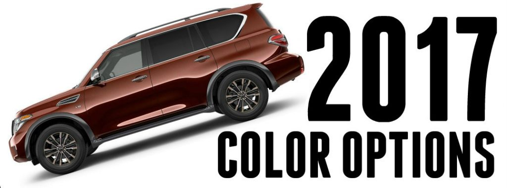 2017 Nissan Armada Exterior Color Options