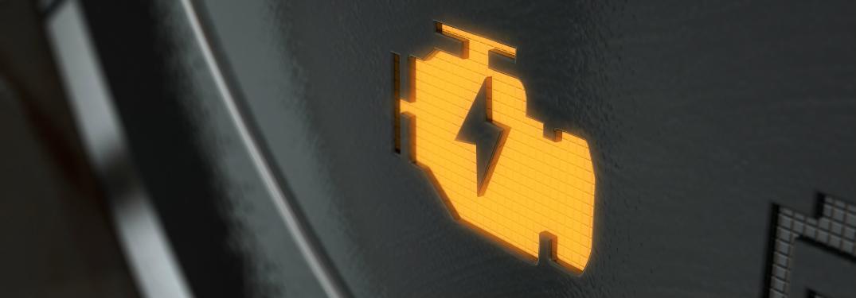 dashboard yellow engine warning light
