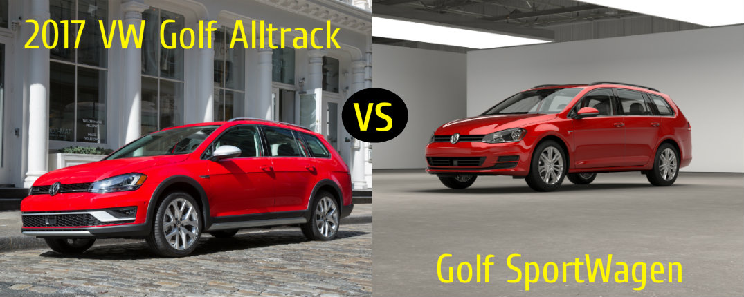 2017 VW Golf Alltrack vs Golf SportWagen
