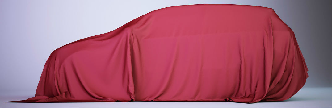 minivan covered in a red tarp