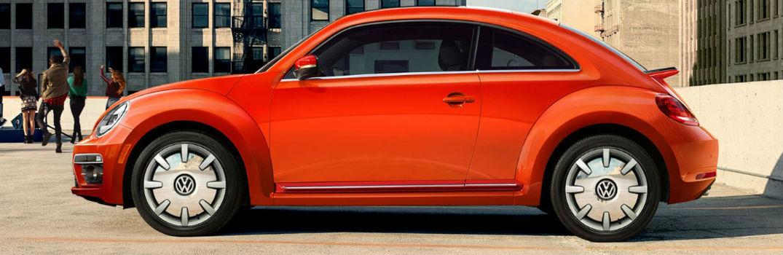 orange 2018 Beetle side profile