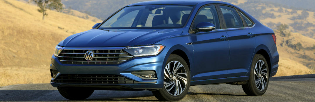 2019 VW Jetta on the road