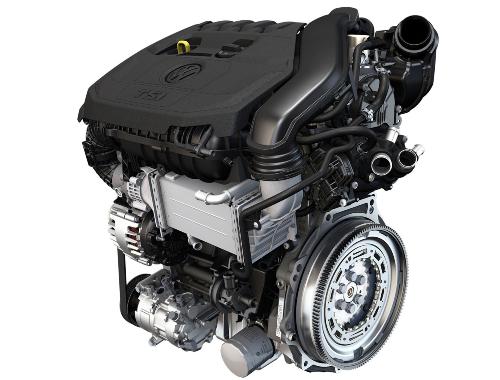 Modern VW TSI four-cylinder engine