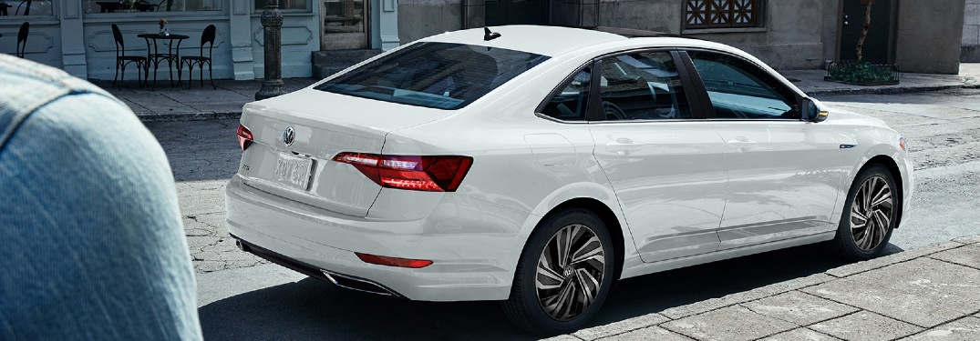 2020 Jetta parked on street curb