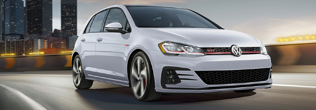 2020 Golf GTI driving on the highway