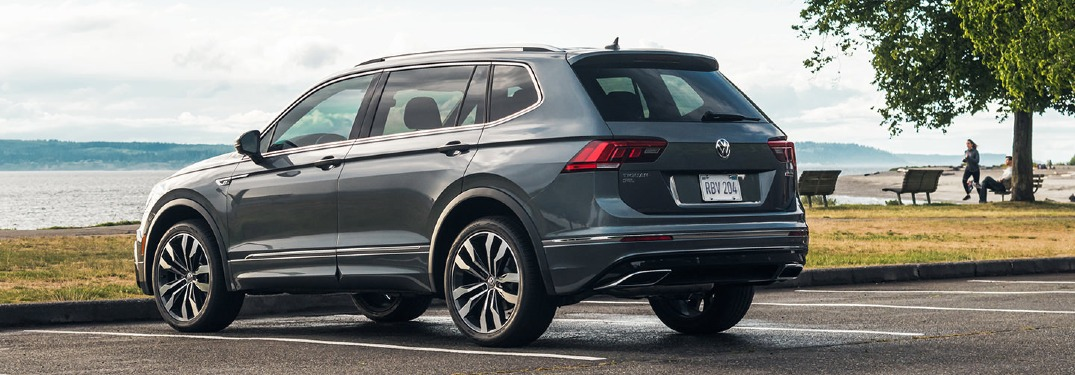 2021 Tiguan parked by the beach