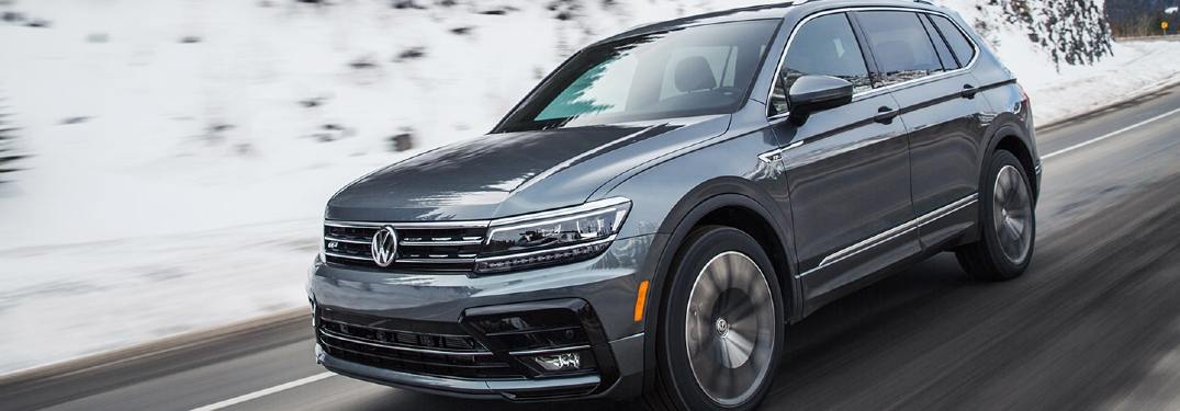 2021 Tiguan driving on snowy road