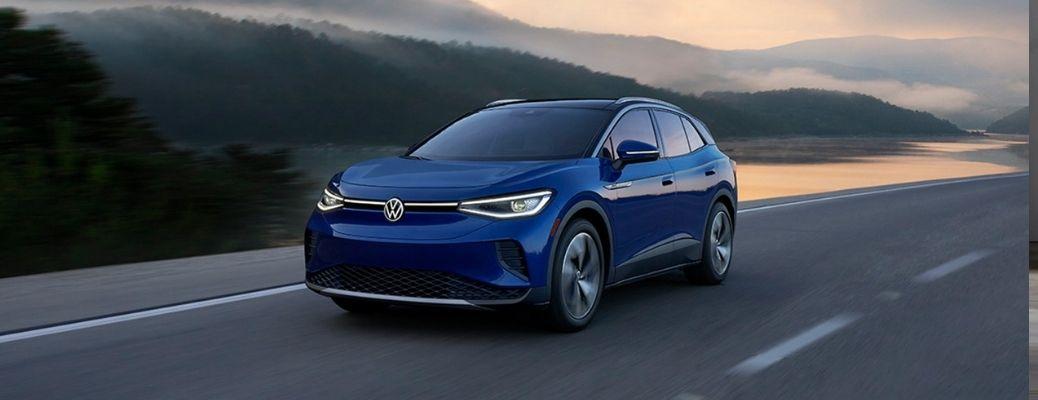 2021 Volkswagen ID.4 on the road