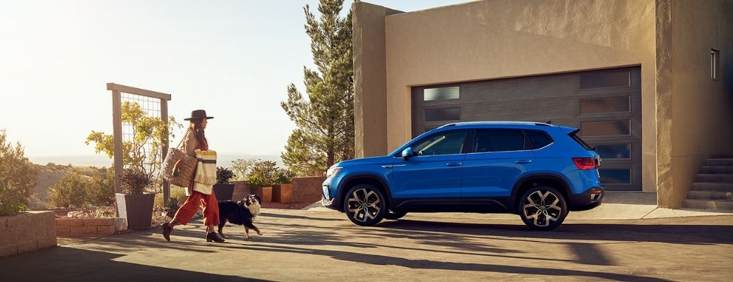 2022 Volkswagen Taos Parked by a House