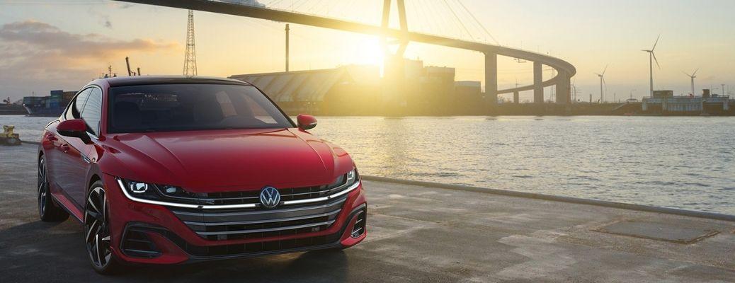 Volkswagen car in a port