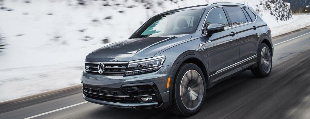 2021 Volkswagen Tiguan on a Highway