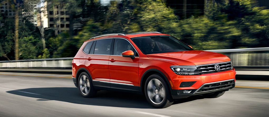 2018 VW Tiguan SUV on road