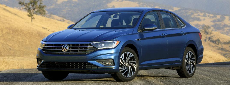 Blue-colored seventh-generation 2019 Volkswagen Jetta