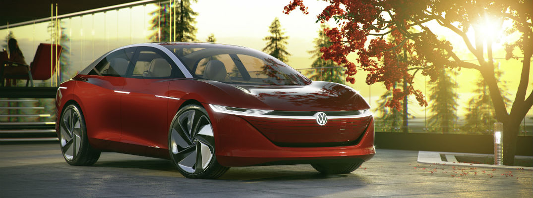 A artist's rendering of the VW I.D. VIZZION concept