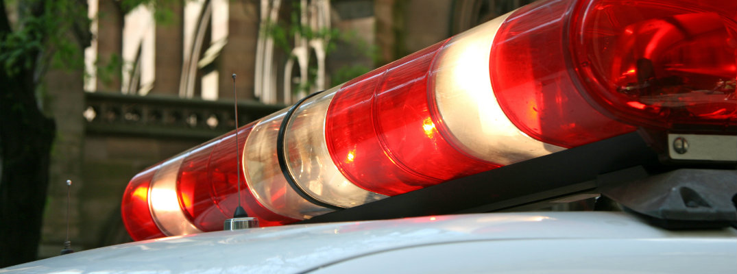 Lighting system on top of unmarked police car