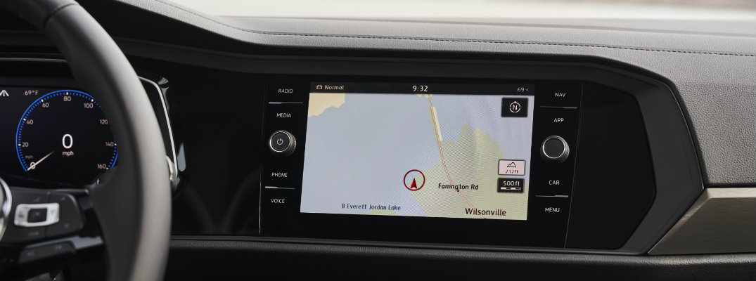Built-in navigation system in the 2019 VW Jetta