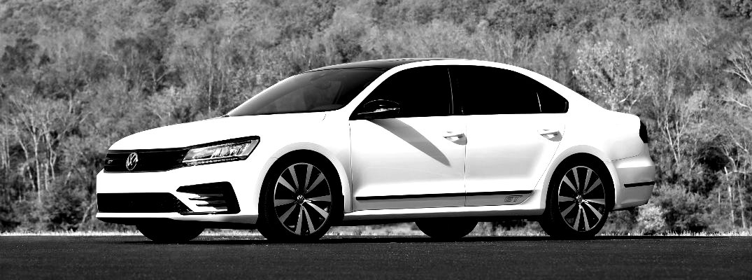 Black and white image of the 2018 Volkswagen Passat