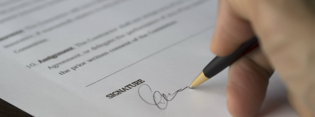 Signature on a piece of paper