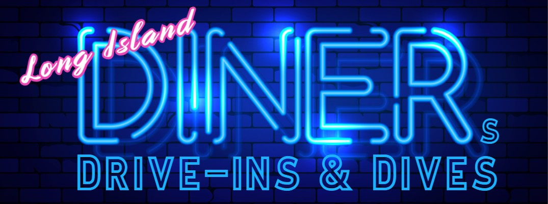 A neon sign that reads diners, drive-ins and dives