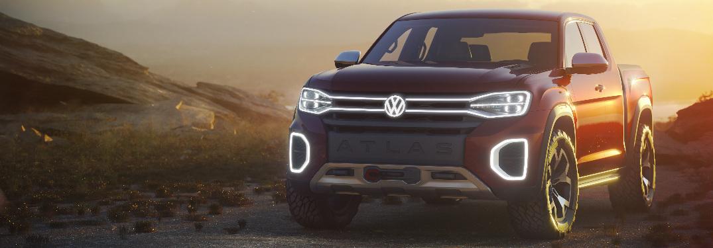 Volkswagen Atlas Tanoak pickup truck concept exterior and front fascia