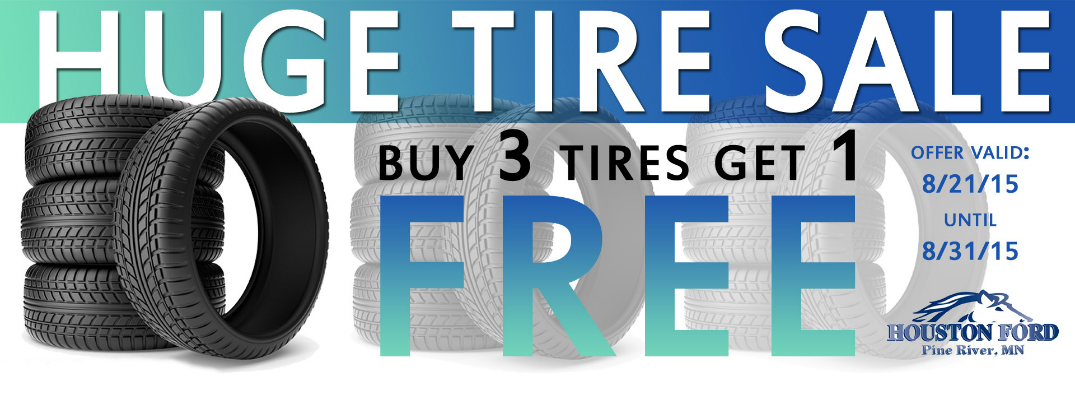huge tire sale at houston ford near brainerd mn