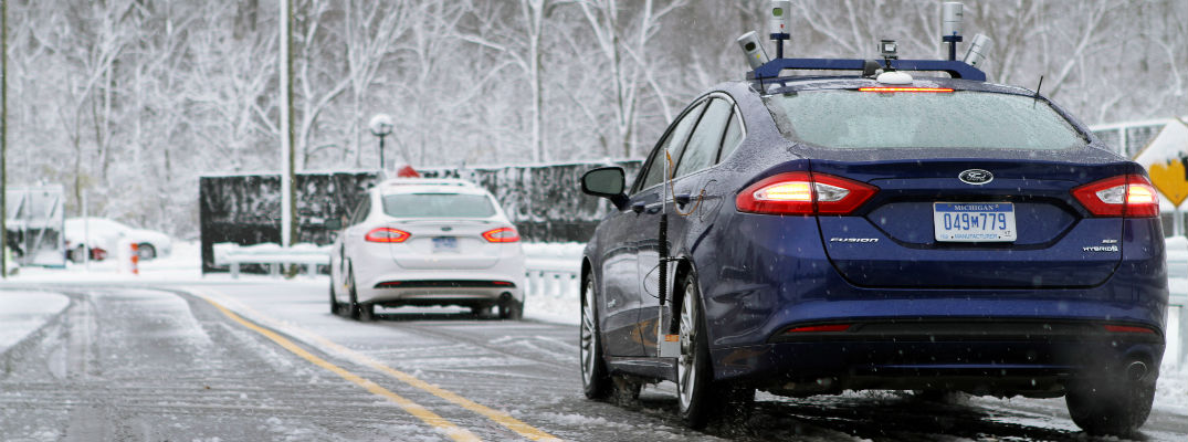 How autonomous cars drive in snow