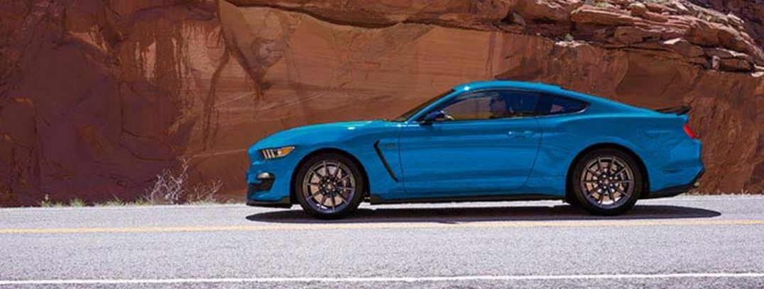 2017 ford mustang exterior side blue