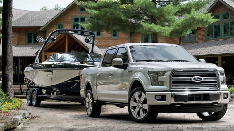 2016 ford f 150 towing a boat o kimber creek ford. Black Bedroom Furniture Sets. Home Design Ideas